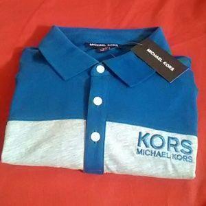 Michael Kors Polo Size M Blue & Gray NWT